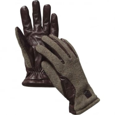 Sport Classic Hairsheep Wool Tricot Gloves - Green/Dark Brown