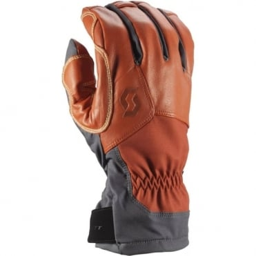 Men's Explorair Tech Gloves - Dark Grey/Burnt Orange