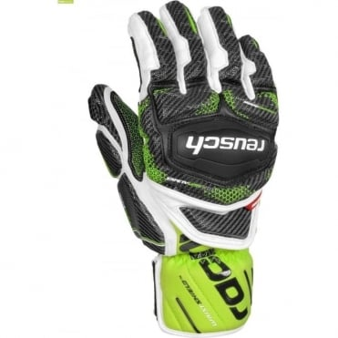 Tec 16 GS Ski Race Glove - White/Green/Black