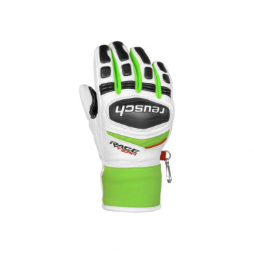 Junior GS Race Glove - White/Green