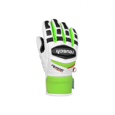 Junior R-TEX XT Ski Race Gloves - White/Green