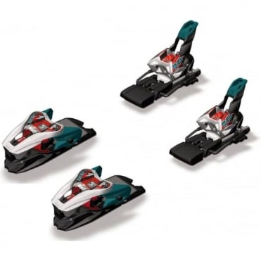 Race Bindings X-Cell 12 Demo ( 4-12 DIN ) Teal Green / White