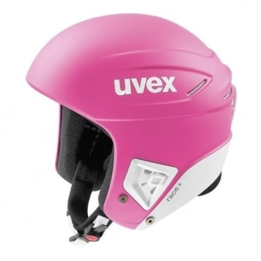 Ski Race Helmet Race+ FIS Approved Pink/White