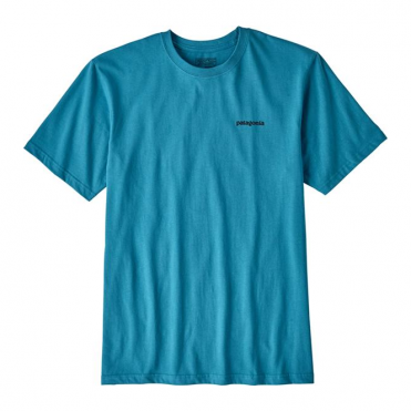 Patagonia P-6 Logo Cotton T-Shirt - Filter Blue