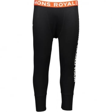 Mons Royale Shaun-Off 3/4 Long Johns FWT - Black