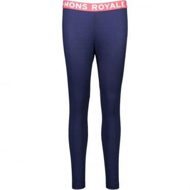 Mons Royale Christy Women's FOLO Leggings - Navy