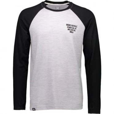 Mons Royale Coreshot Raglan LS FTBOTW - Black/Grey