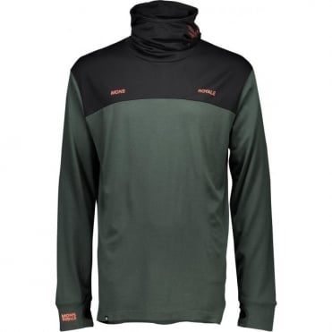 Mons Royale Yotei Powder Hood LS Itallica - Forest Green/Black