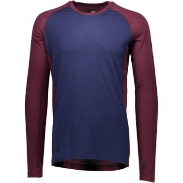 Mons Royale Temple Tech LS Geo - Navy/Burgundy