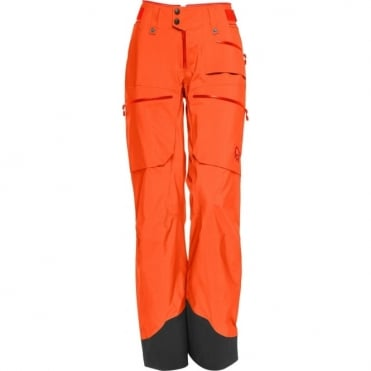 Norrona Women's Lofoten Gore-Tex Pro Pants - Orange Alert