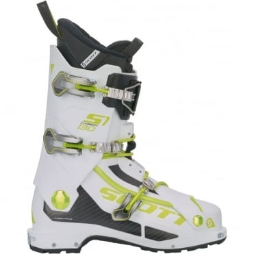 Scott Carbon S1 Touring Boot - White/Green
