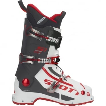 Scott S1 Longfiber Touring Boot - White/Red
