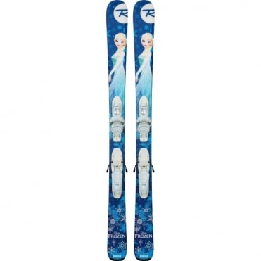 Rossignol Junior Skis Frozen + Kid-x B76 - 104cms