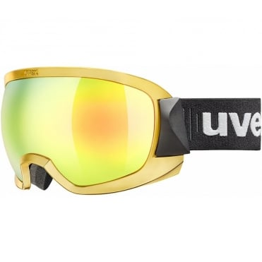 Race Goggles Contest Olympic Chrome Gold Mirror/Gold Lens