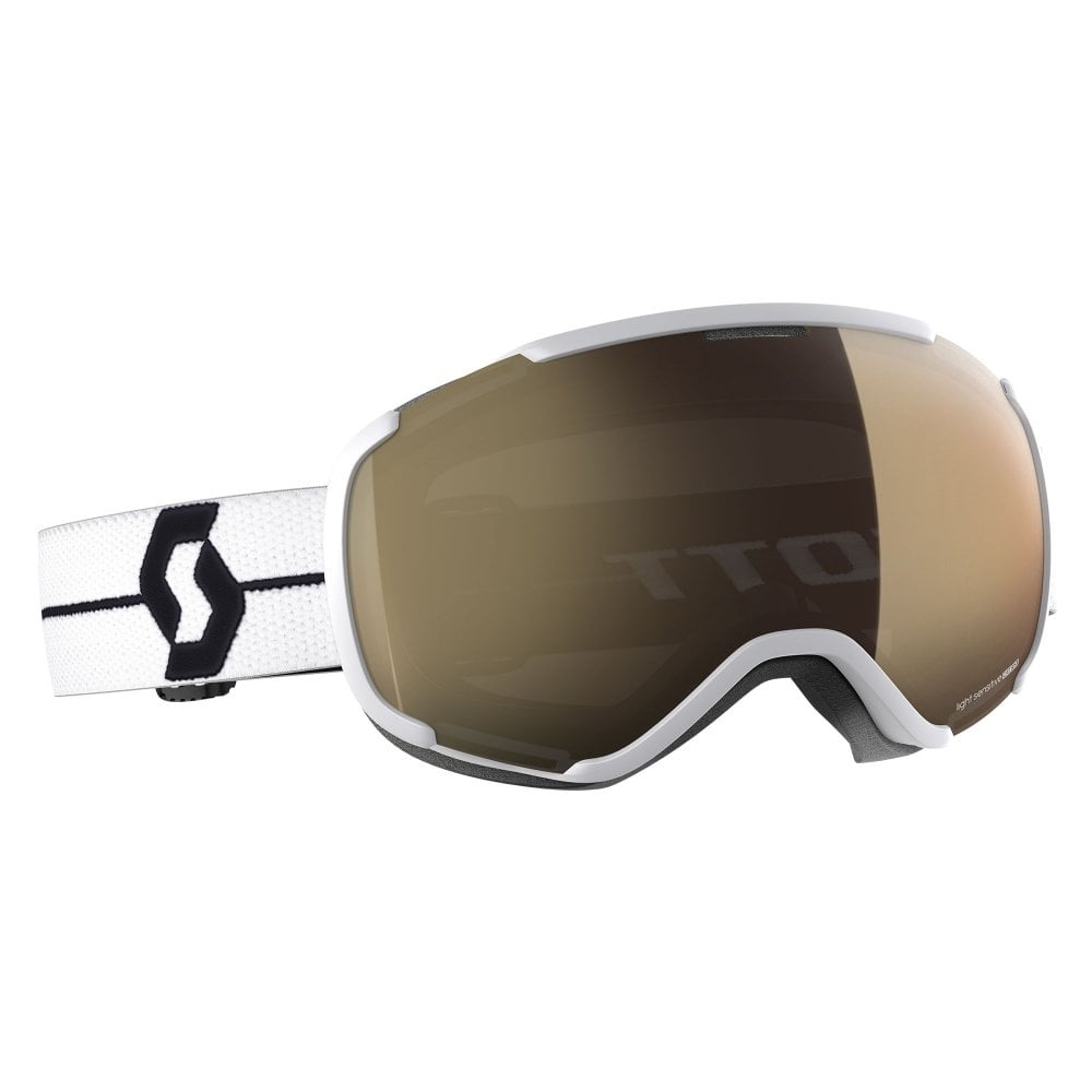 7f7f13f71888 Scott Faze II Goggle - White Black with Light Sensitive Bronze Chrome Lens