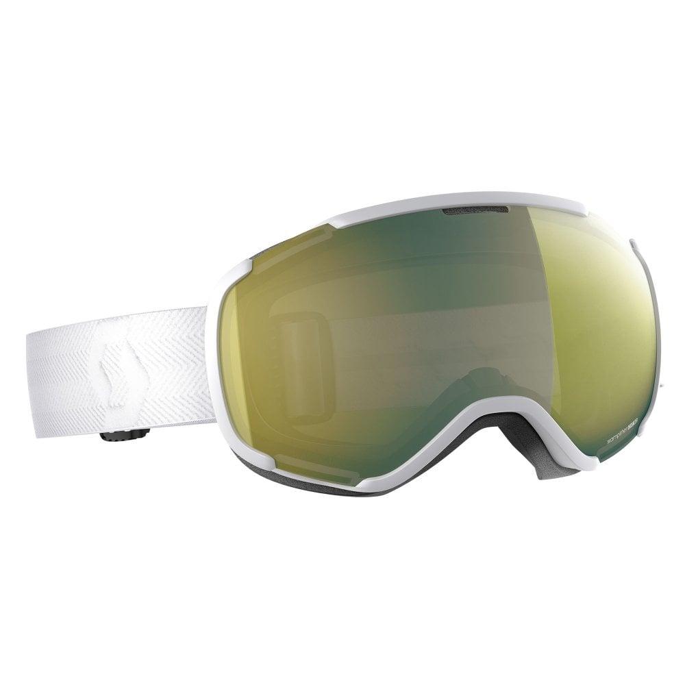 8b851e1f2f29 Scott Faze II Goggle - White with Enhancer Yellow Chrome Lens