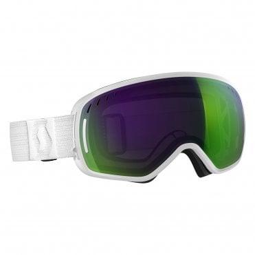 b5477a3e680 Scott LCG Goggle - White Solar Green Chrome