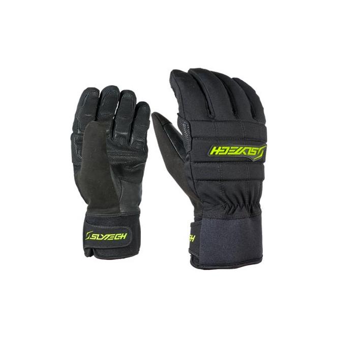 Slytech Fortress Park Fingers Ski Gloves - Black/Yellow